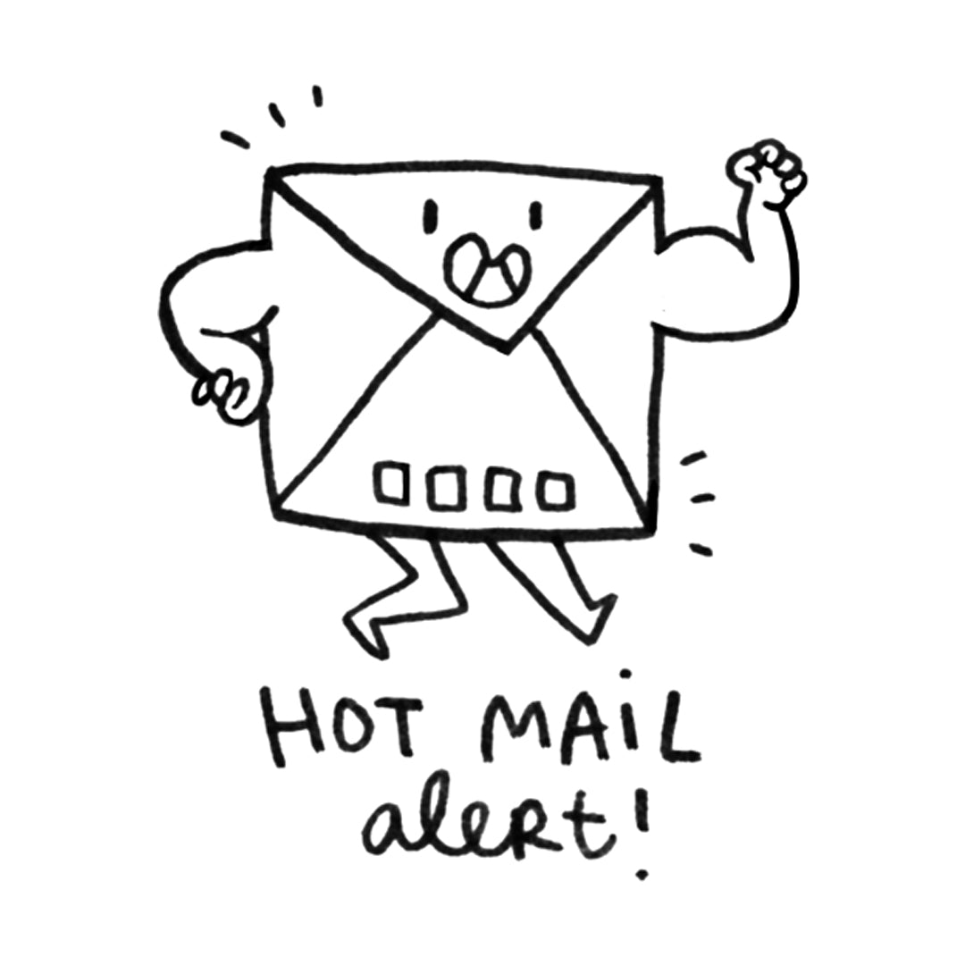 Hot Mail Stamp