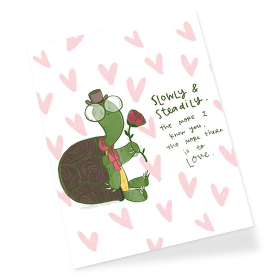 Slowly Greeting Card