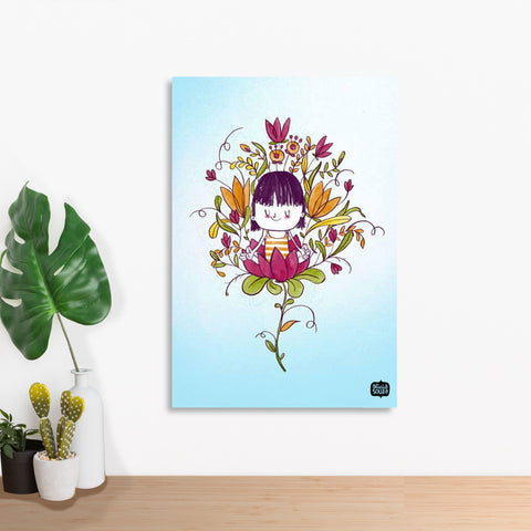 Blossoming Girl Wall Art