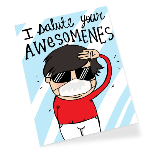 Awesomeness Male Mask Greeting Card