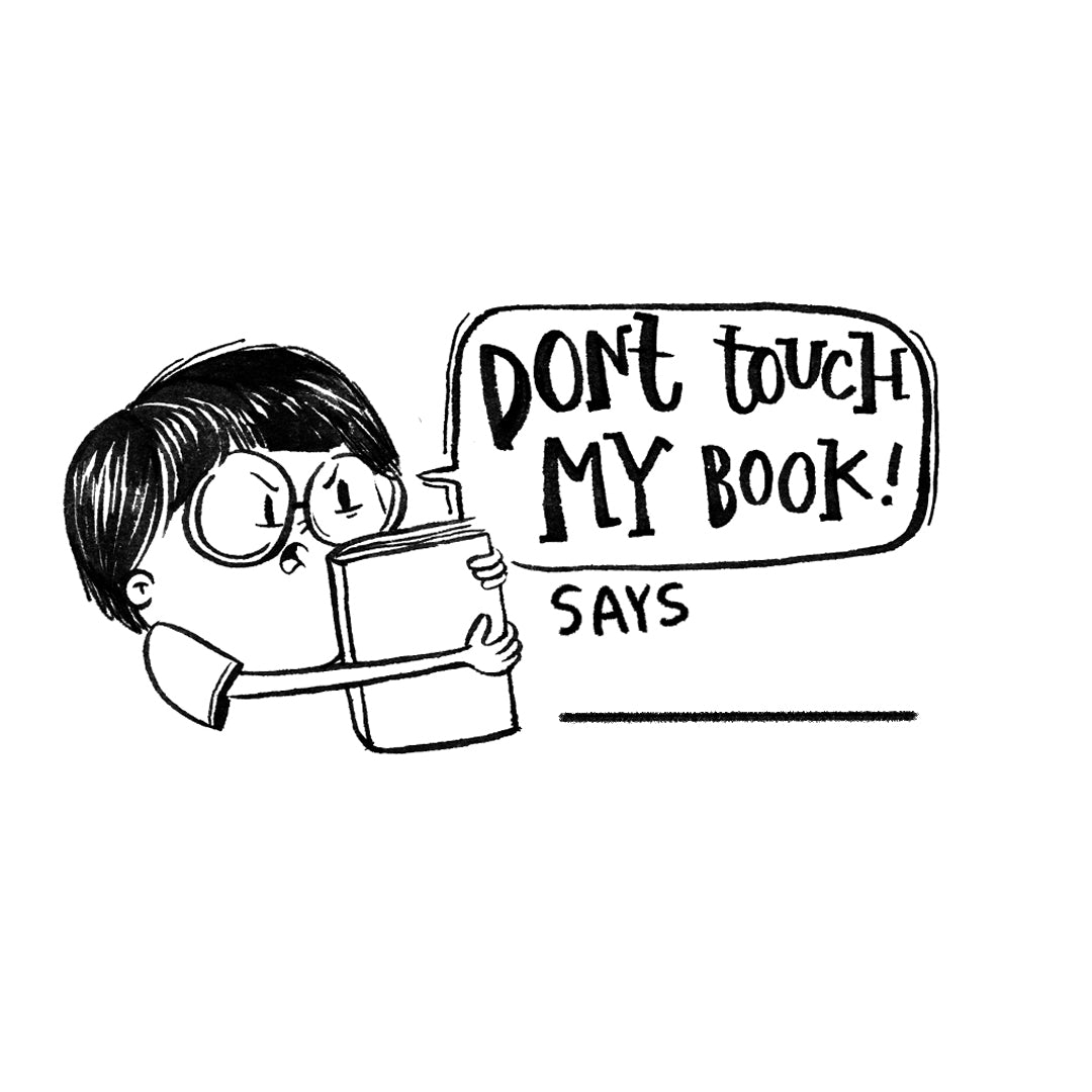Don't Touch Book Stamp - BOY