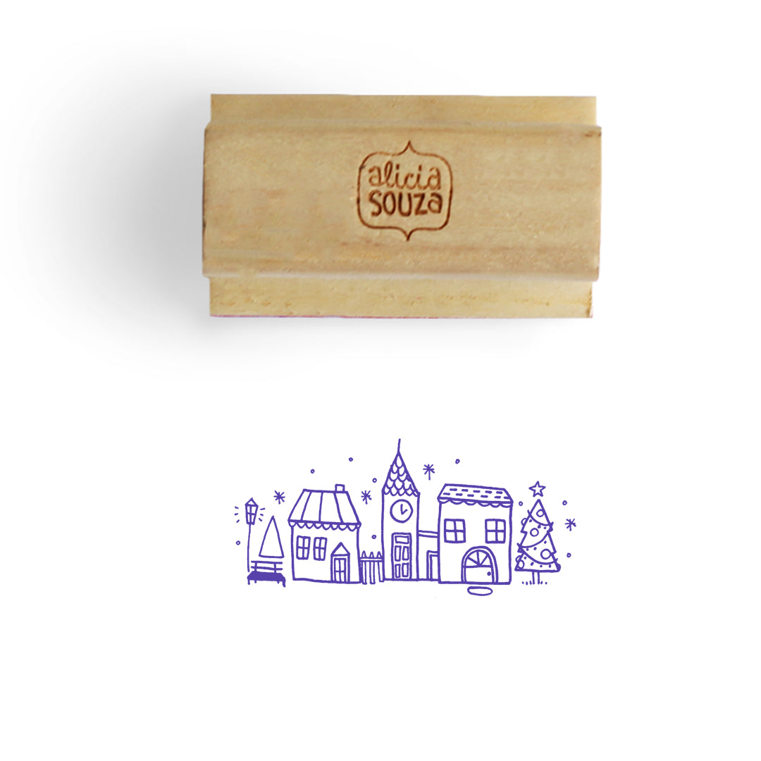 Christmas House Stamp - BIG