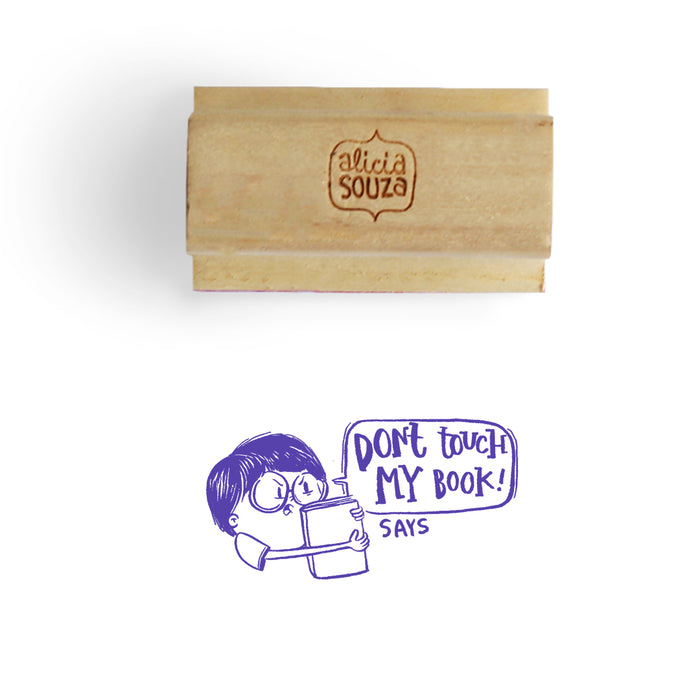 Custom Don't Touch  Book Stamp - BOY