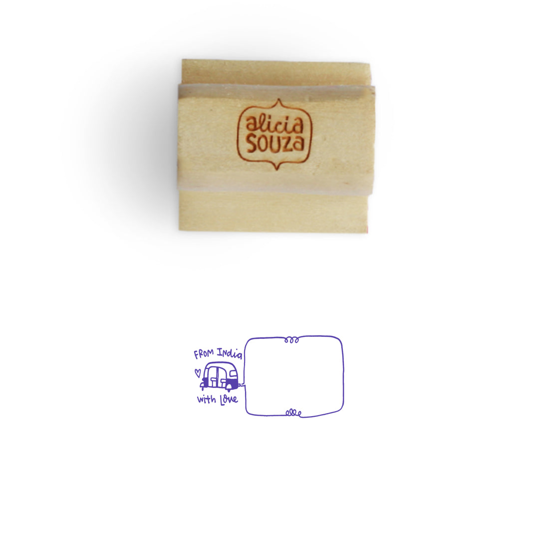 From India Address Stamp
