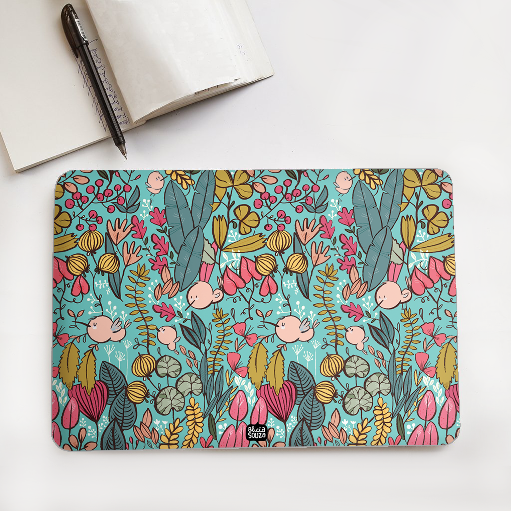 Blue Garden Laptop Skin