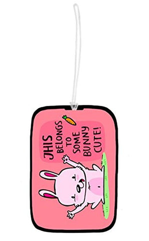Some bunny luggage tag