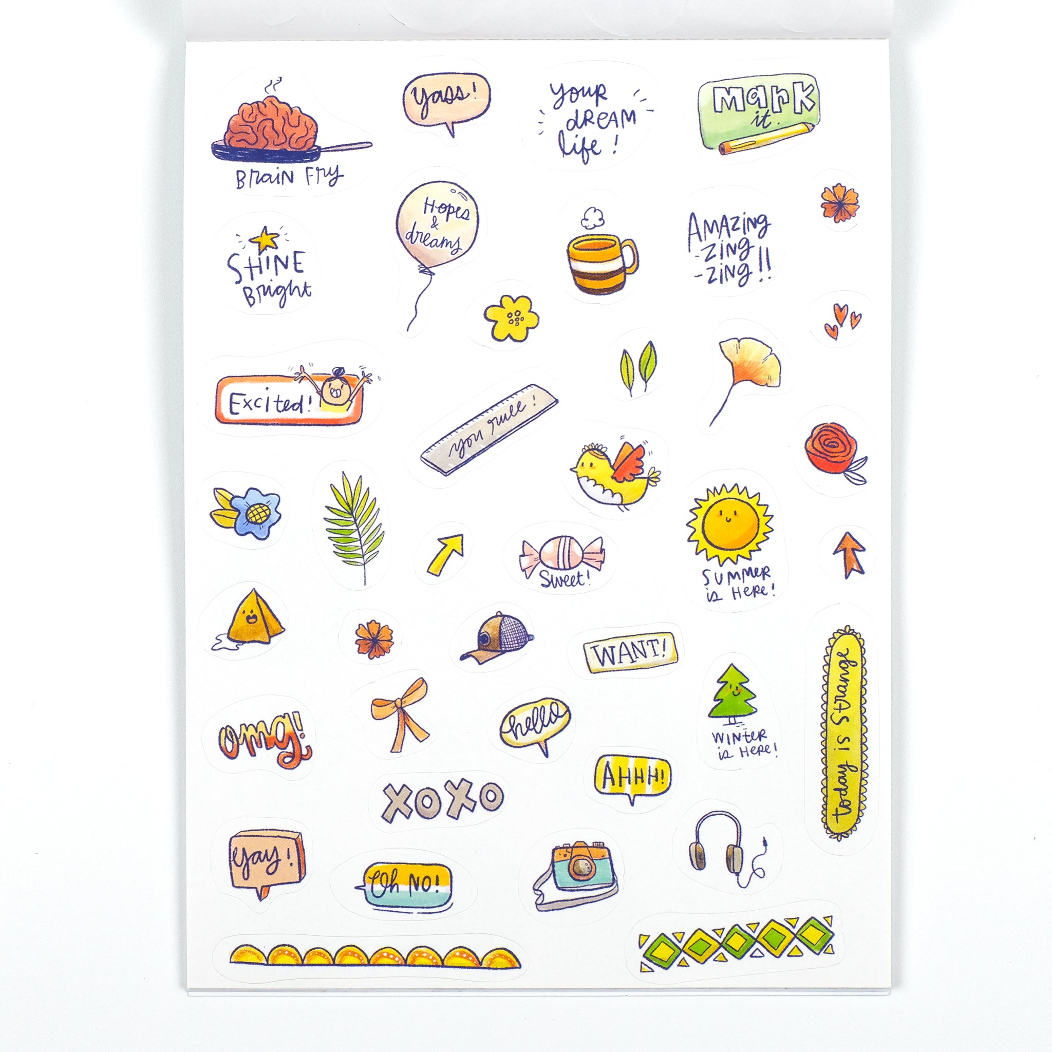 Big book of stickers with Colour-in pages