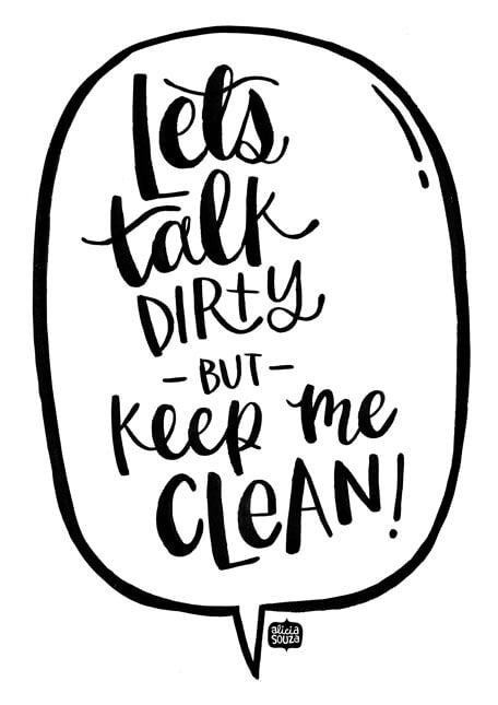 Keep Me Clean Decal - Alicia Souza