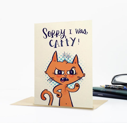 Catty Greeting Card