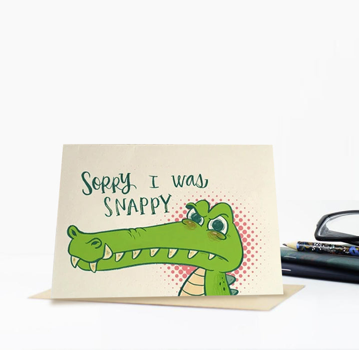 Snappy Croc Greeting Card