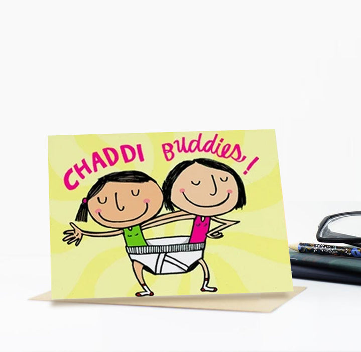 Chuddie Buddies Greeting Card