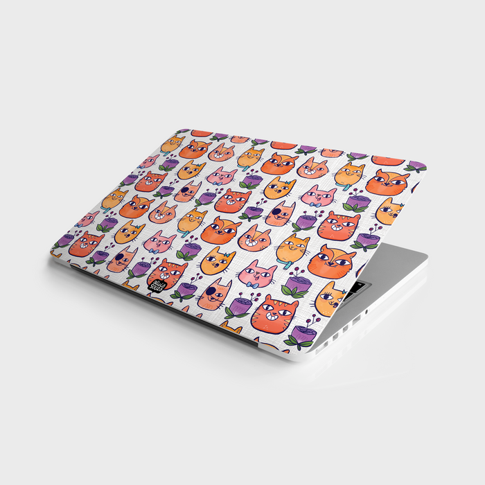 Happy Cats Laptop Skin