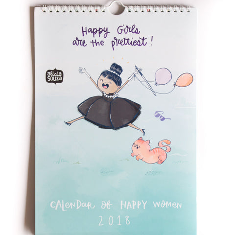Happy Women 2018 - Wall Calendar