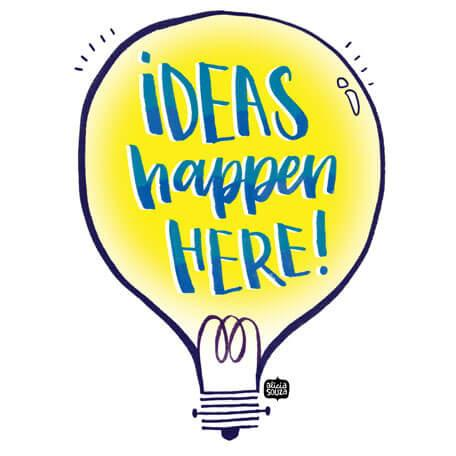 Ideas Happen Here Wall Art