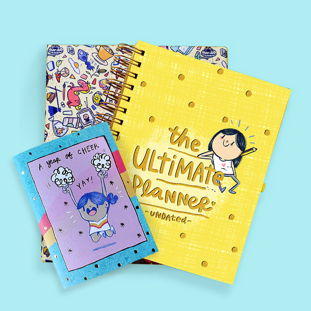 The Undated Ultimate Planner with FREE Undated Pocket Planner and Stickerbook