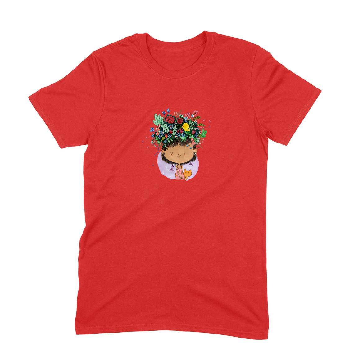 Flower on the Head T-shirt