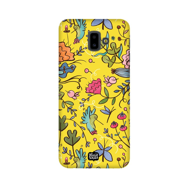 Humming Bird Yellow Phone Cover