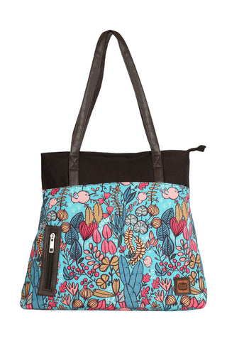 Accessories - Blue Garden Tote Bag