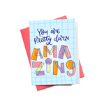 Darn Amazing Mini Greeting Card