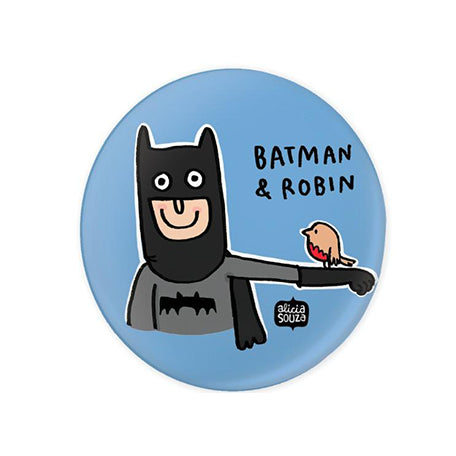 Batman And Robin Badge - Alicia Souza