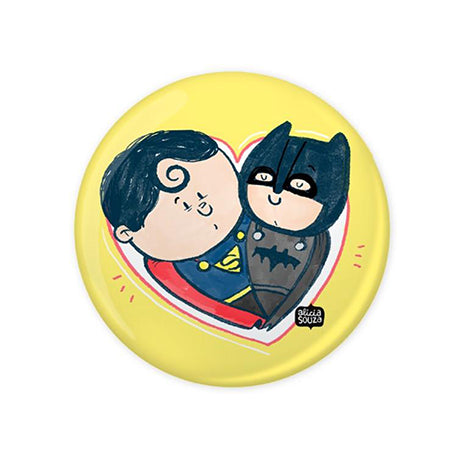 Batman Superman Love Badge