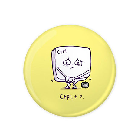 Control Pee Badge - Alicia Souza