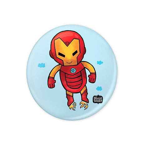 Cute Iron Man Badge - Alicia Souza