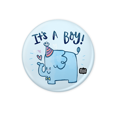 It's A Boy Badge