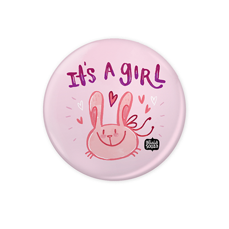 It's A Girl Badge