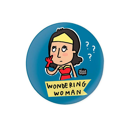 Wondering Woman Badge - Alicia Souza