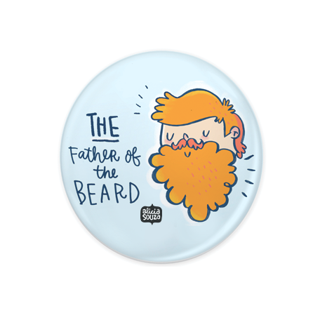 Father of the Beard Badge+Magnet