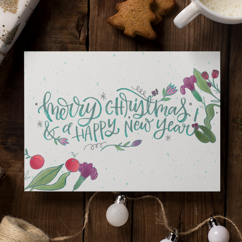 Joy - Christmas Note Card - Spot Laminated