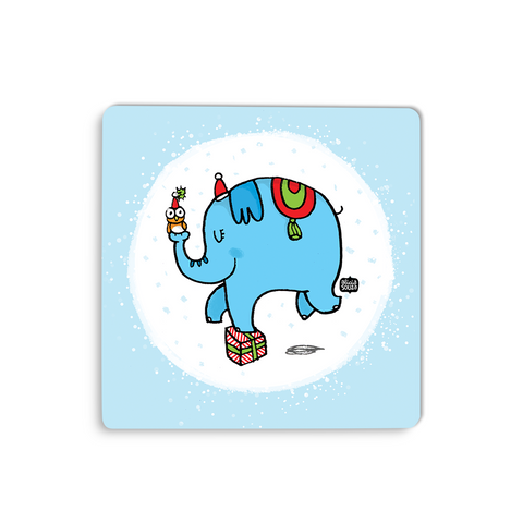 Christmas Elephant Coaster