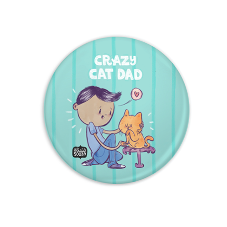 Crazy Cat Dad Badge - Alicia Souza