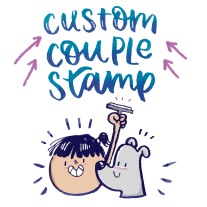 Custom Couple Stamp - Alicia Souza