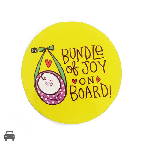 Bundle Of Joy On Board Decal