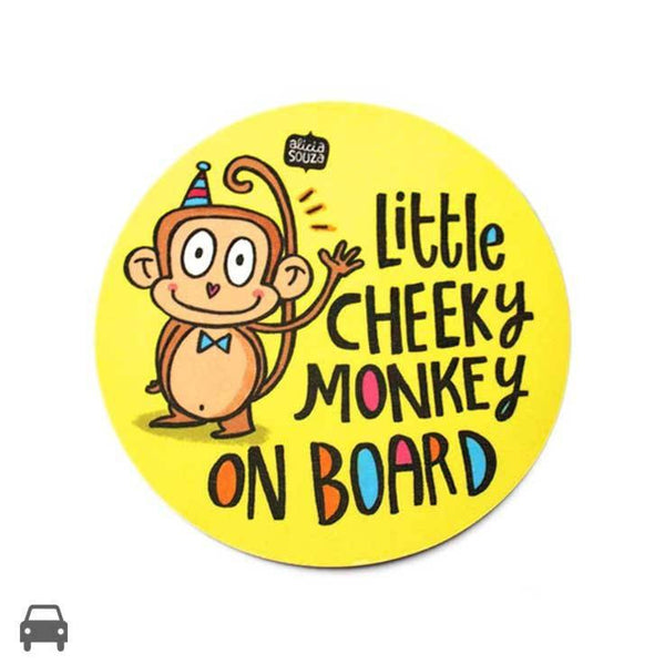 Decal - Cheeky Monkey Car Decal