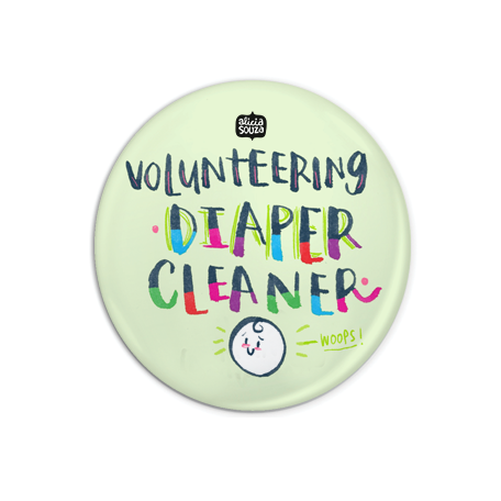Diaper Cleaner Badge + Magnet