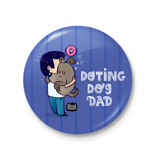 Doting Dog Dad Badge