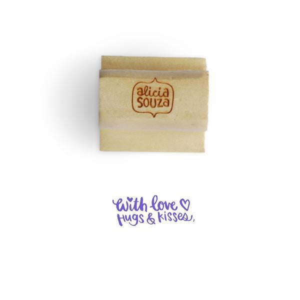 With love Name Custom Stamp