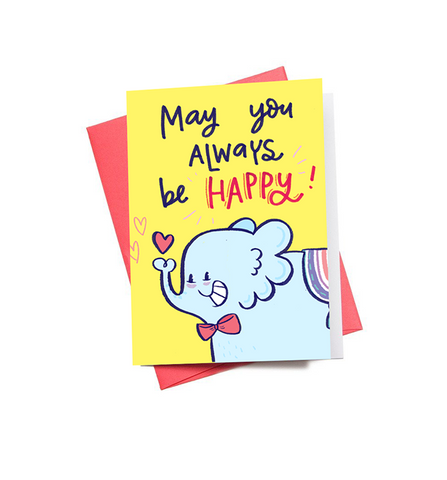 Be Happy Mini Greeting Card