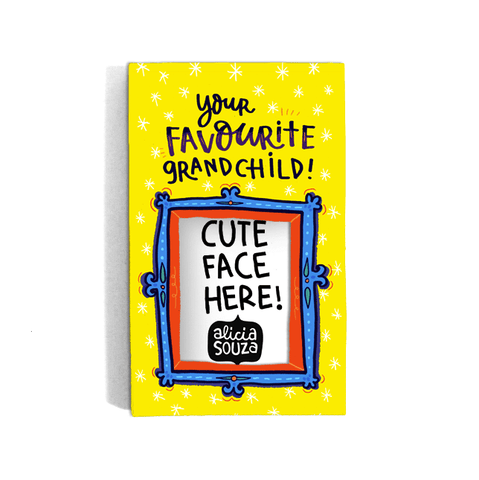 Favourite Grandchild Refrigerator magnetic frame SMALL