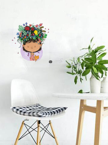 Flower On The Head Decal