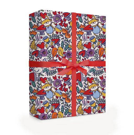 Hearts and Cuddles Wrapping Paper - Alicia Souza