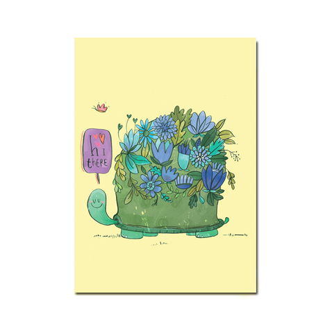 Turtle Hello Postcard - SET OF 5