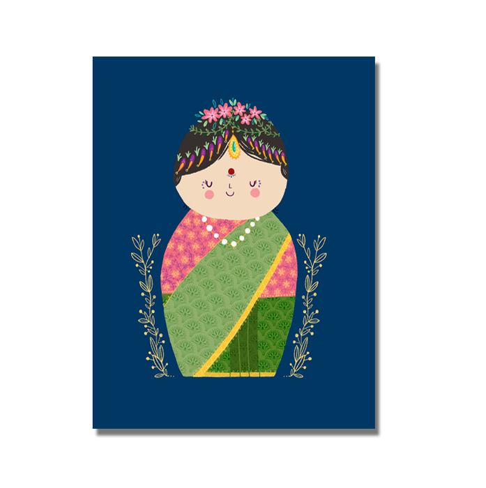 Doll postcard - SET OF 5 - Alicia Souza