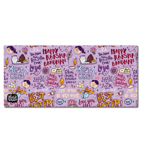 Happy Raksha Bandhan Envelope - LILAC - Alicia Souza