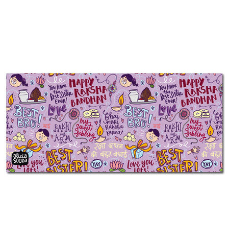 Happy Raksha Bandhan Envelope Lilac
