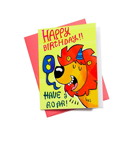 Birthday Roar Mini Greeting