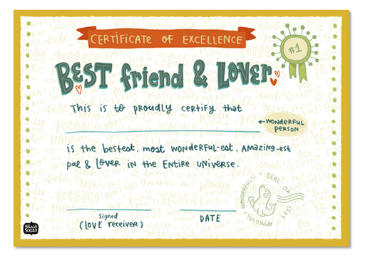 Lover Certificate